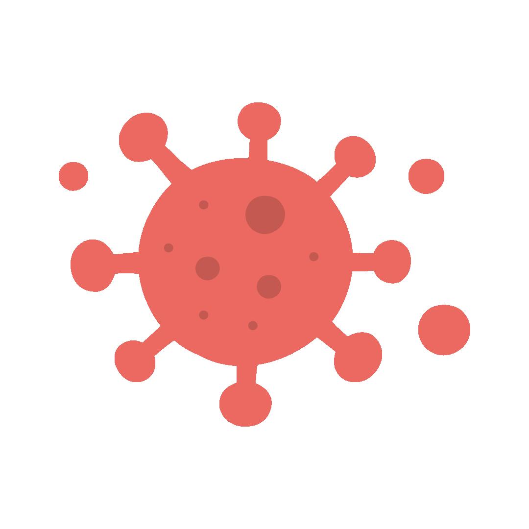 コロナウイルスのイラスト(塗り)