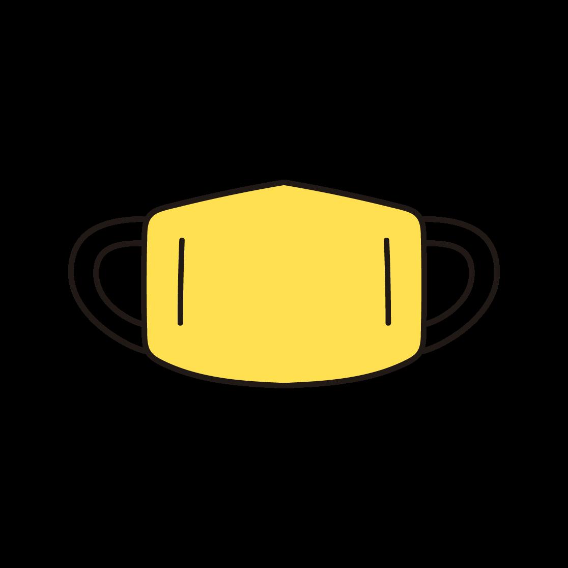マスクの単色イラスト