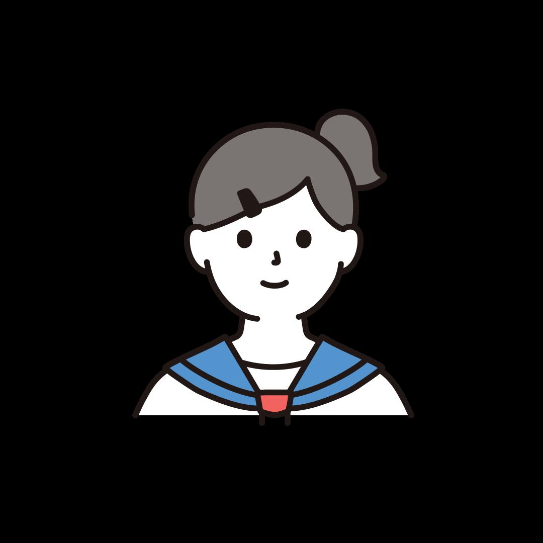 中学生・高校生の女の子のイラスト