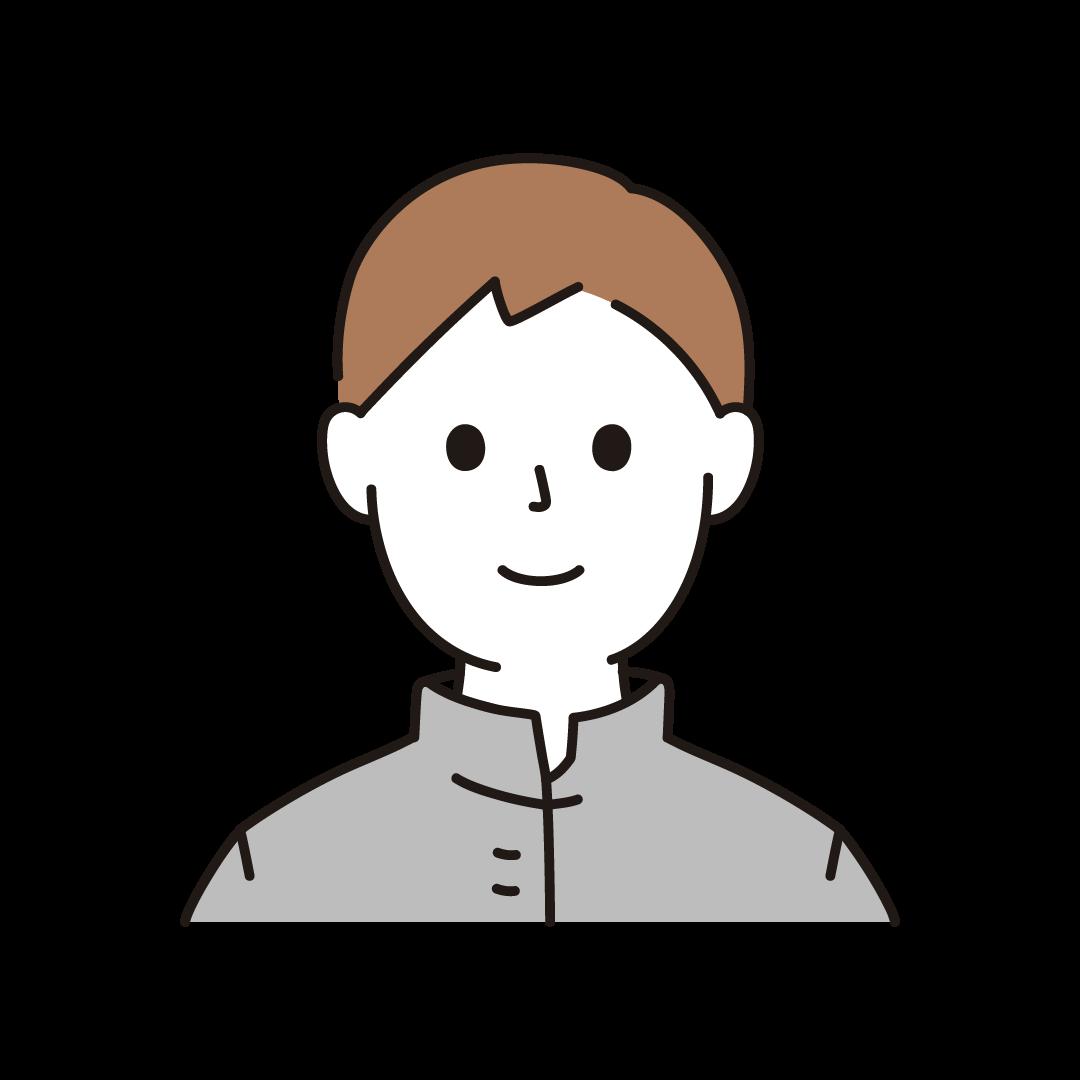 中学生・高校生の男子のイラスト