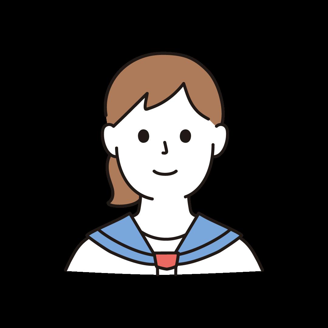 中学生・高校生の女子(上半身)