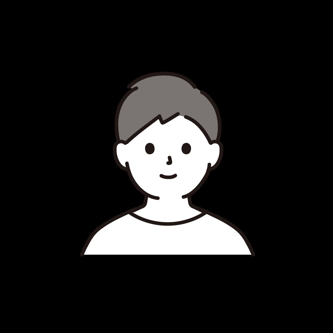 20代~30代の男性(上半身)のイラスト