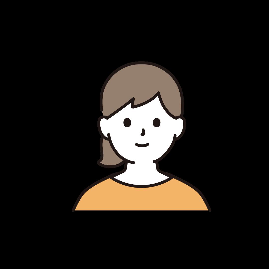 20代~30代の女性(上半身)のイラスト