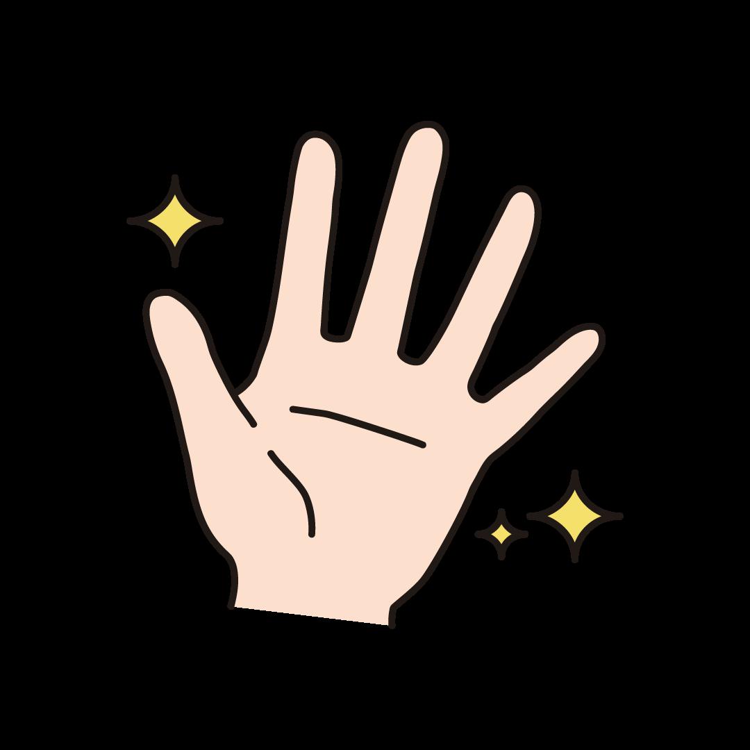 きれいな手のイラスト