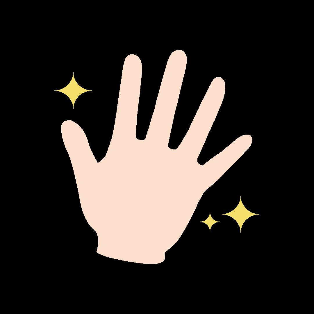 きれいな手のイラスト(塗り)