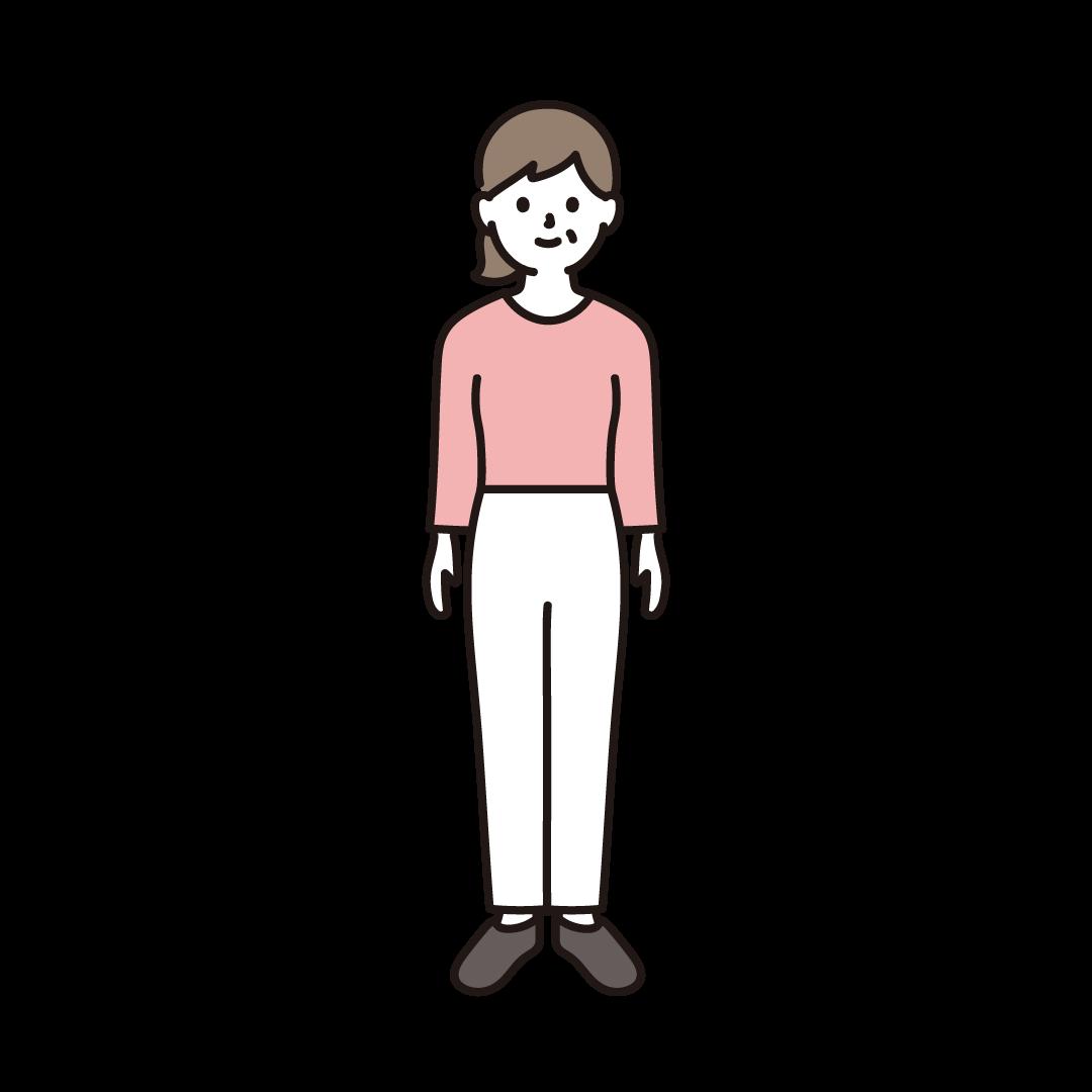 40代・50代の女性(全身)のイラスト
