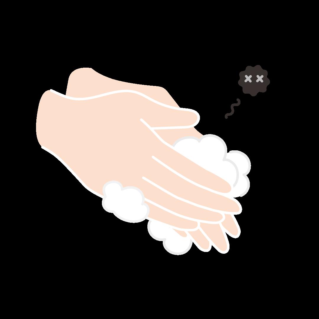 手洗いのイラスト(塗り)