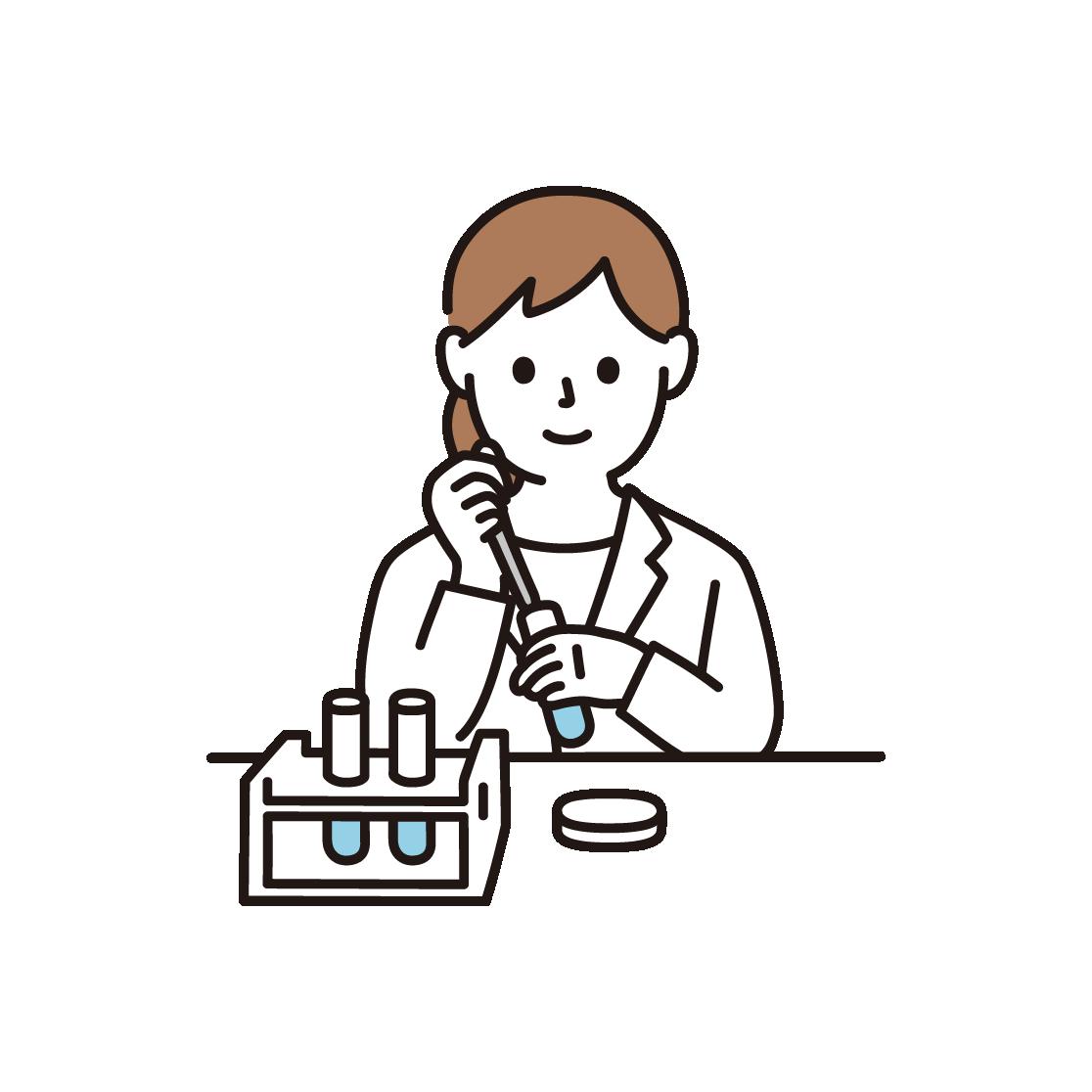 研究・実験をする女性