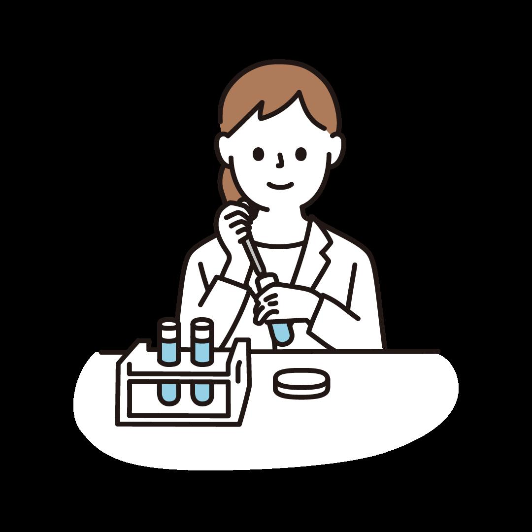 研究・科学実験をする女性