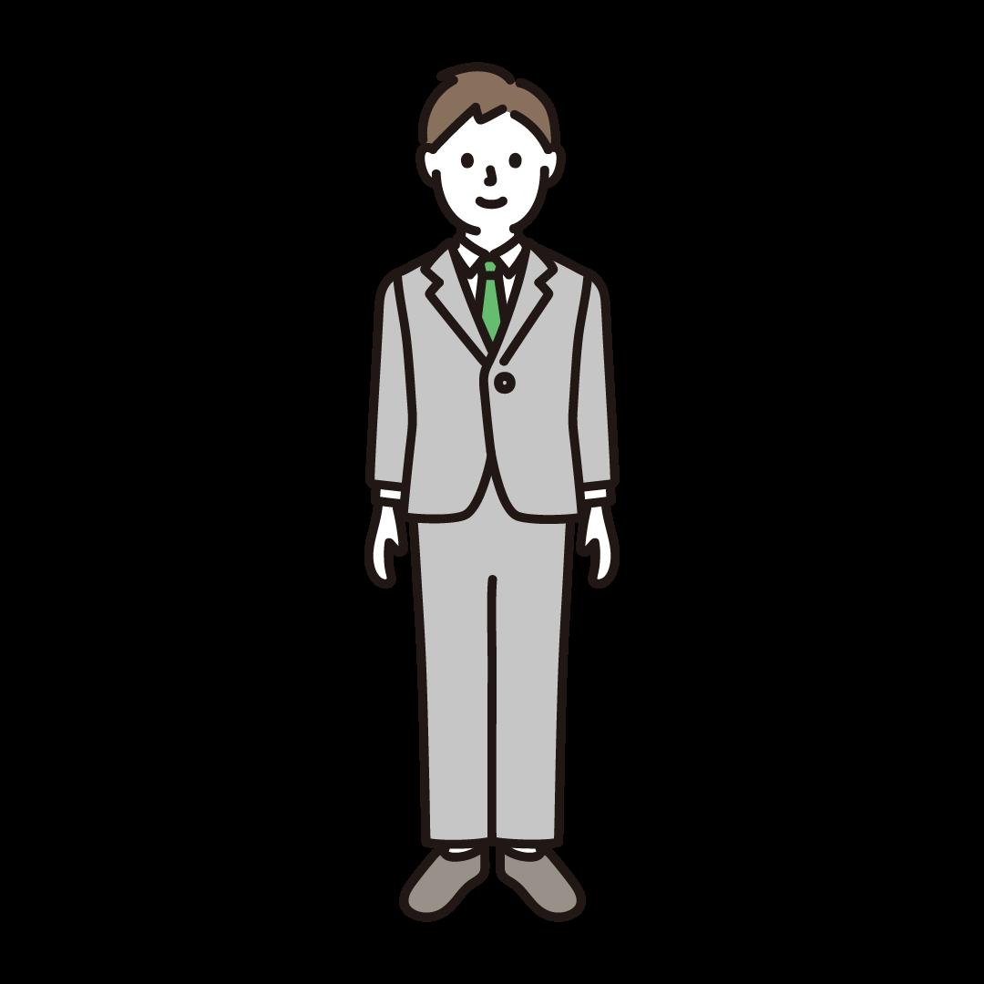 スーツを着た男性のイラスト