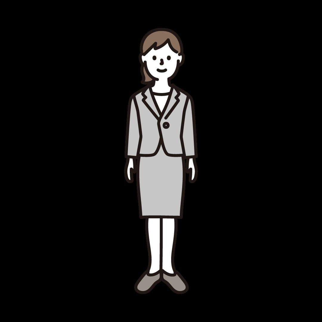 スーツを着た若い女性