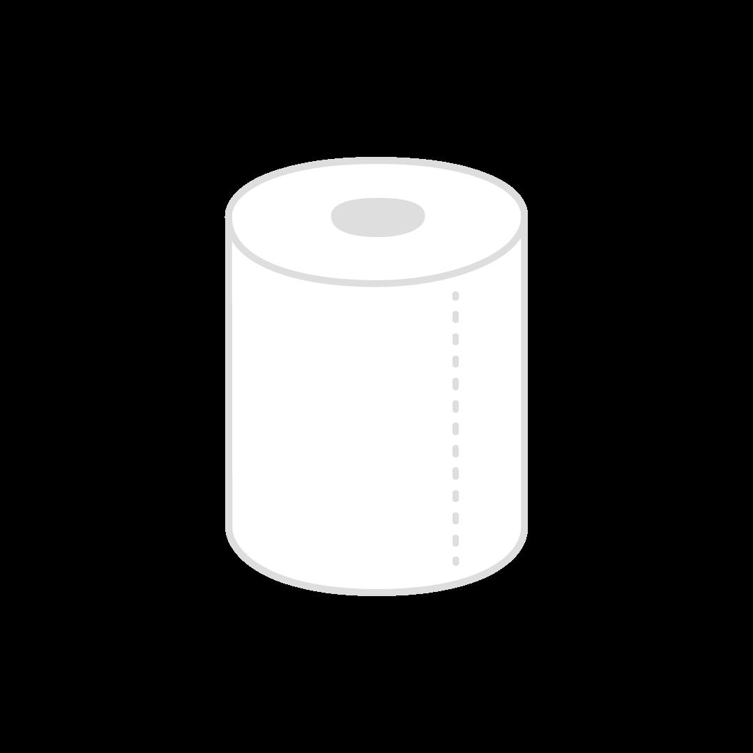 トイレットペーパーのイラスト(塗り)