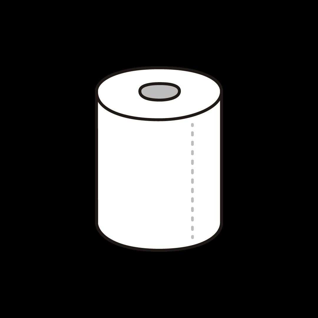 トイレットペーパーのイラスト