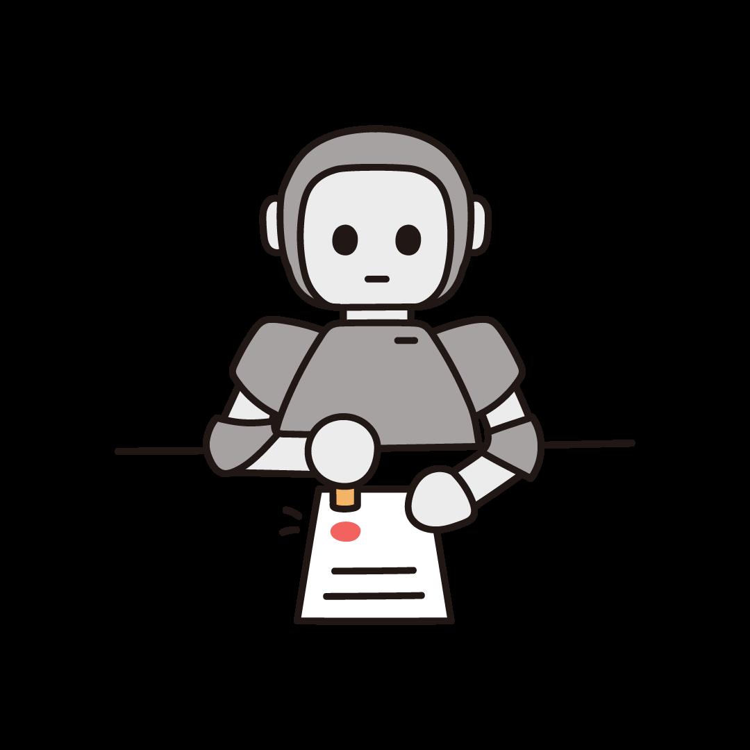 ハンコ押印ロボットのイラスト