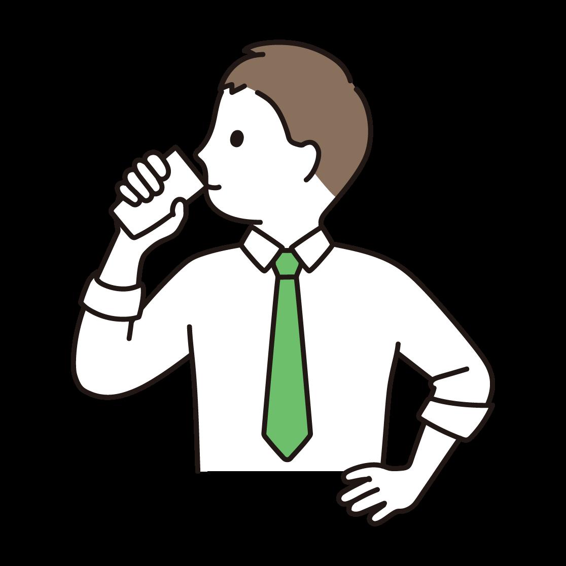 牛乳を飲む人