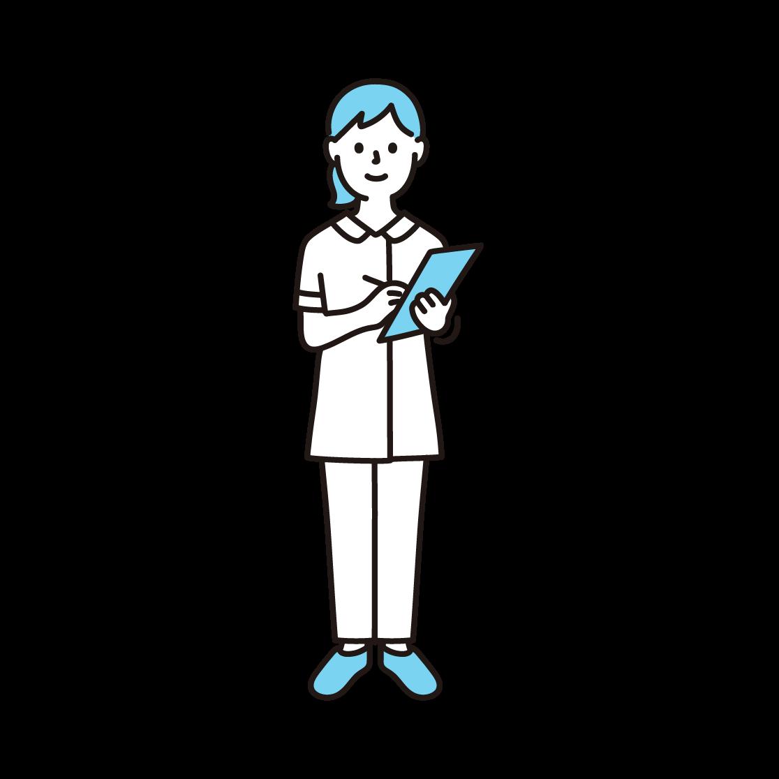 看護師の単色イラスト