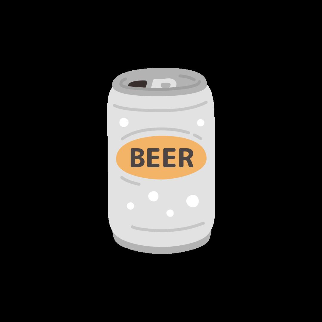缶ビールのイラスト (塗り)