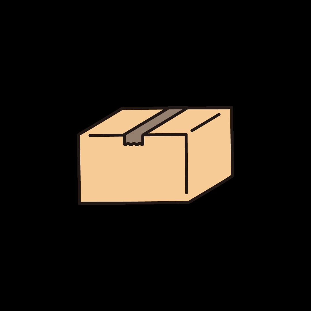段ボール箱(閉じた状態)