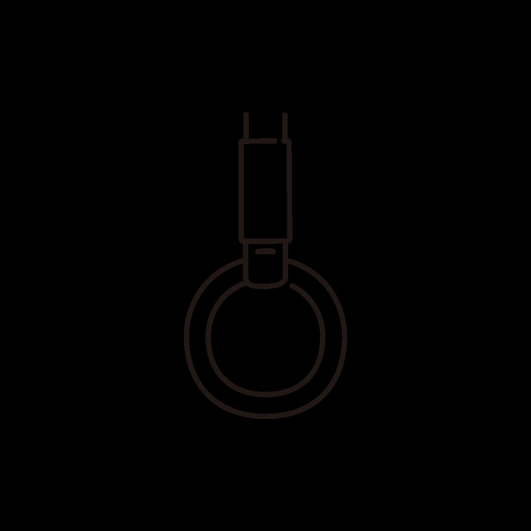 つり革のイラスト (線のみ)