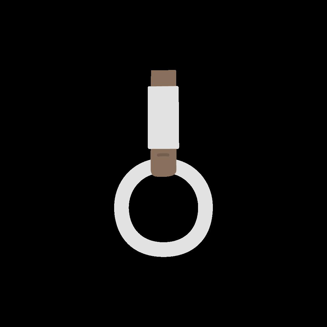つり革のイラスト (塗り)