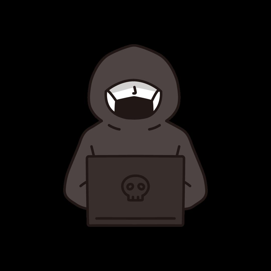 ハッカーのイラスト