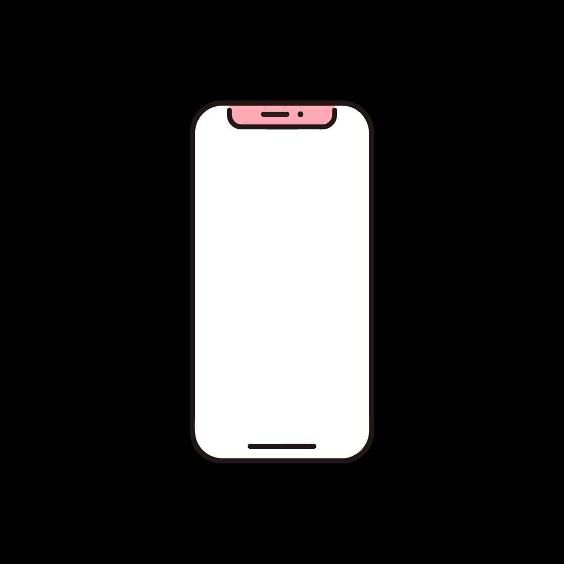 スマートフォンのイラスト(単色)