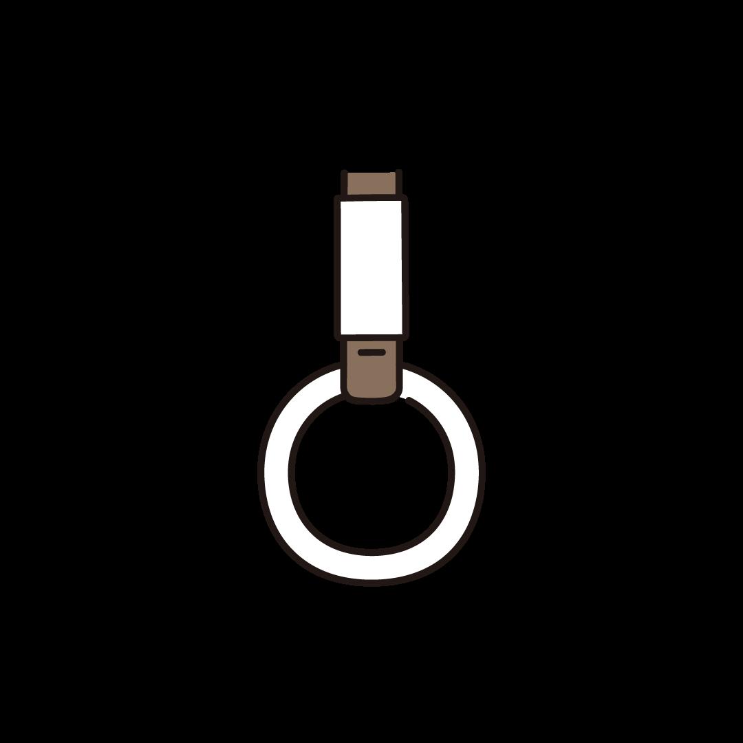 つり革(電車・バス)のイラスト