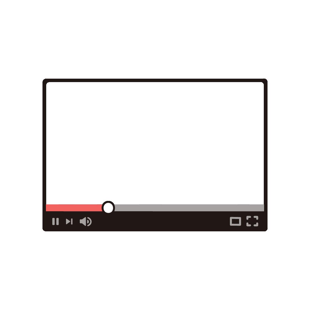 ネット動画プレーヤーのフレーム素材(16:9)