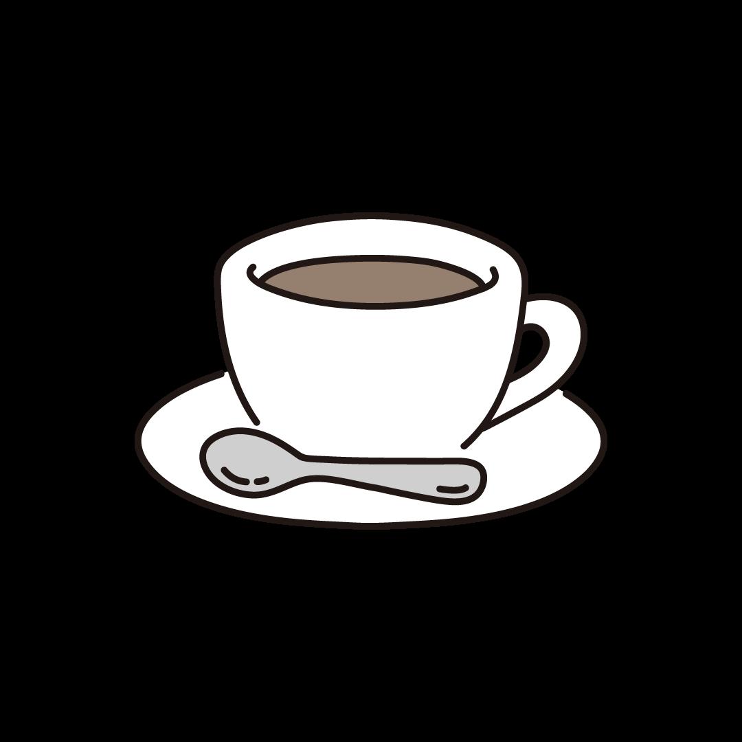 コーヒー・コーヒーカップのイラスト