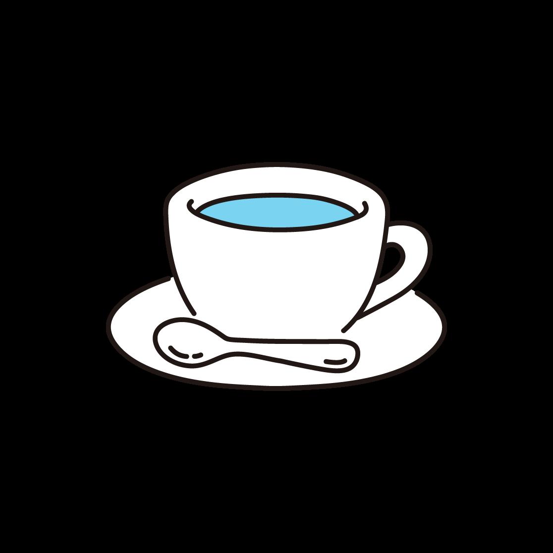 コーヒーの単色イラスト