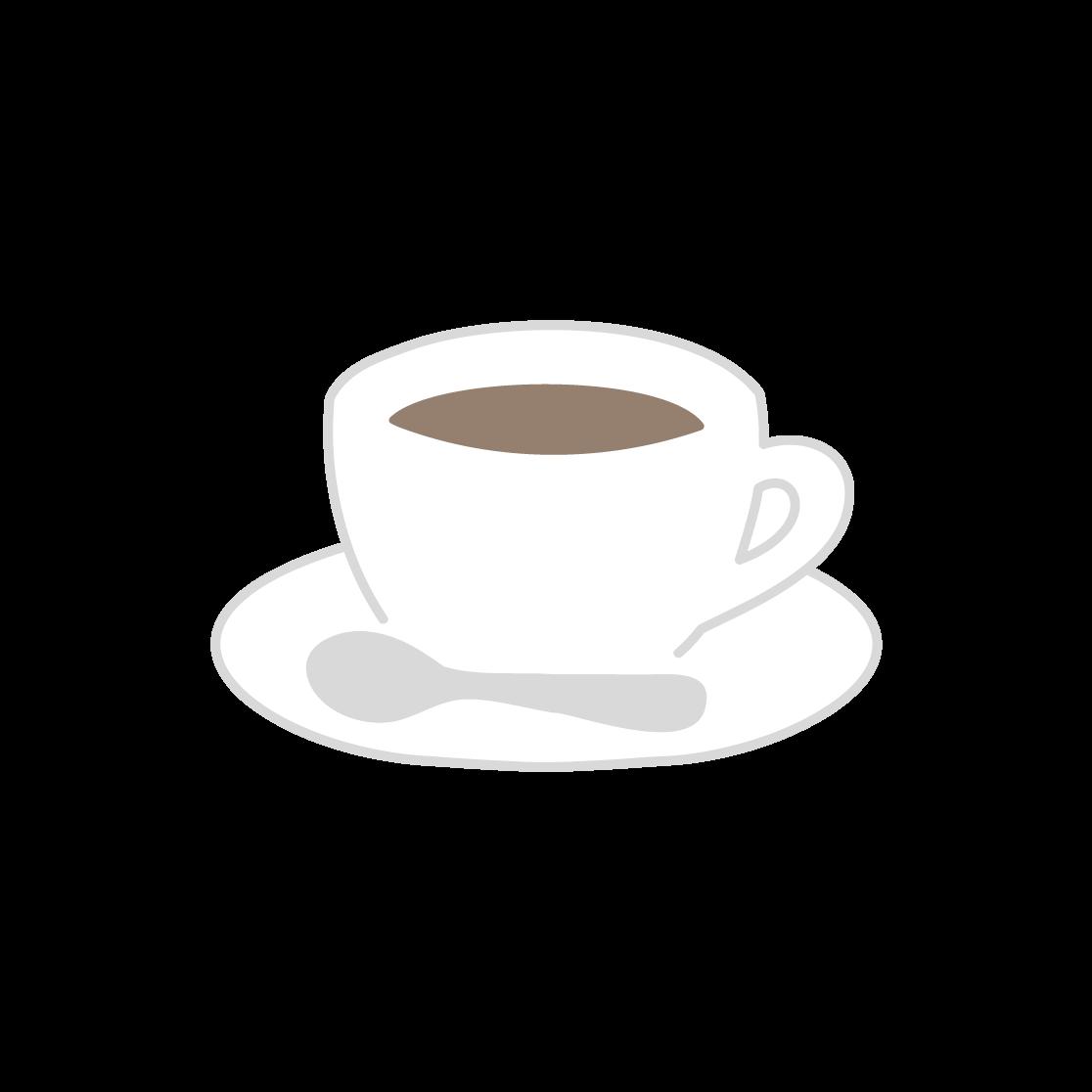 コーヒーの塗りイラスト