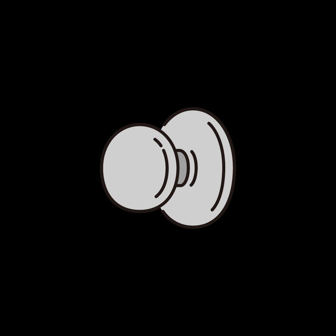 ドアノブのイラスト