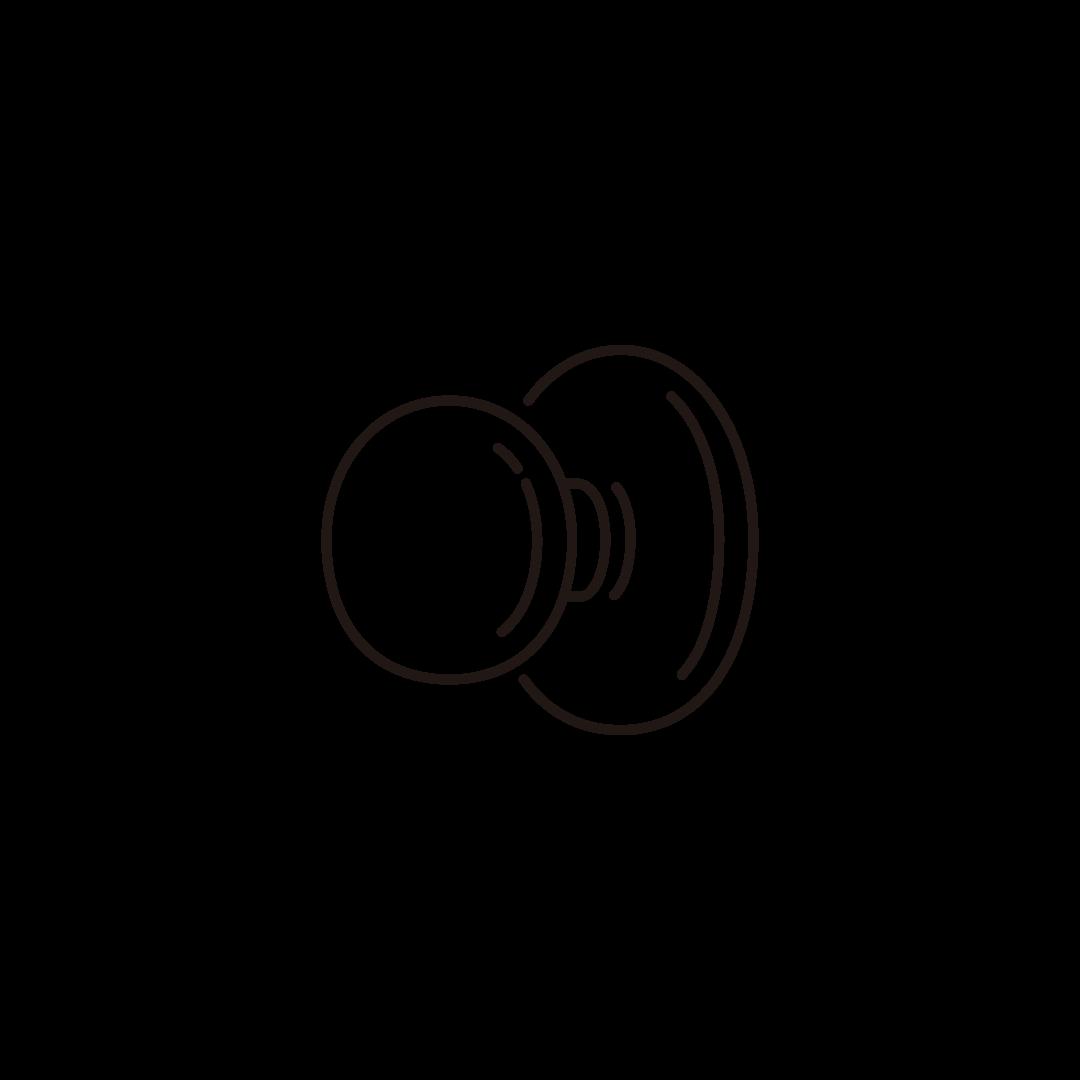 ドアノブの線イラスト