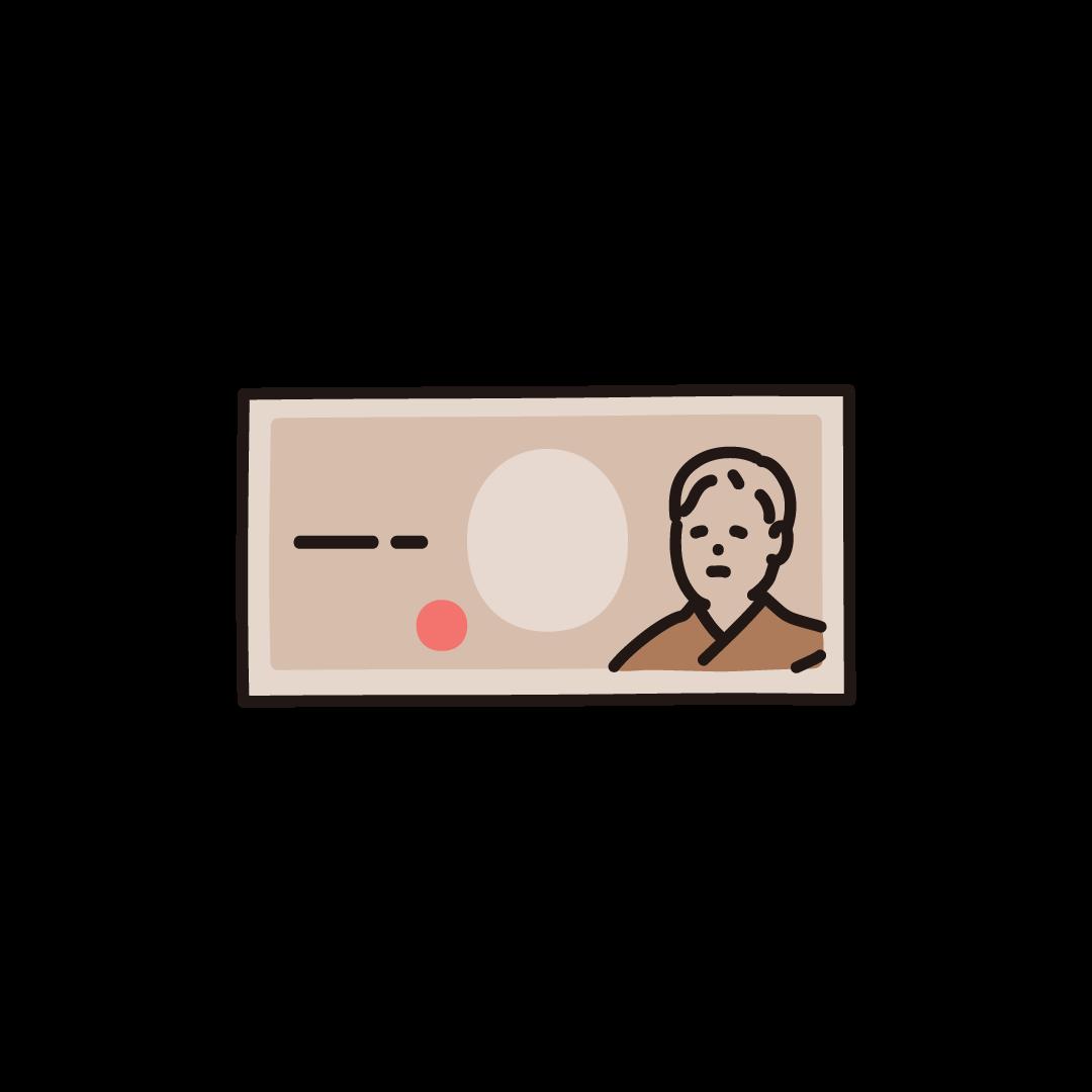 紙幣(1万円札)のイラスト