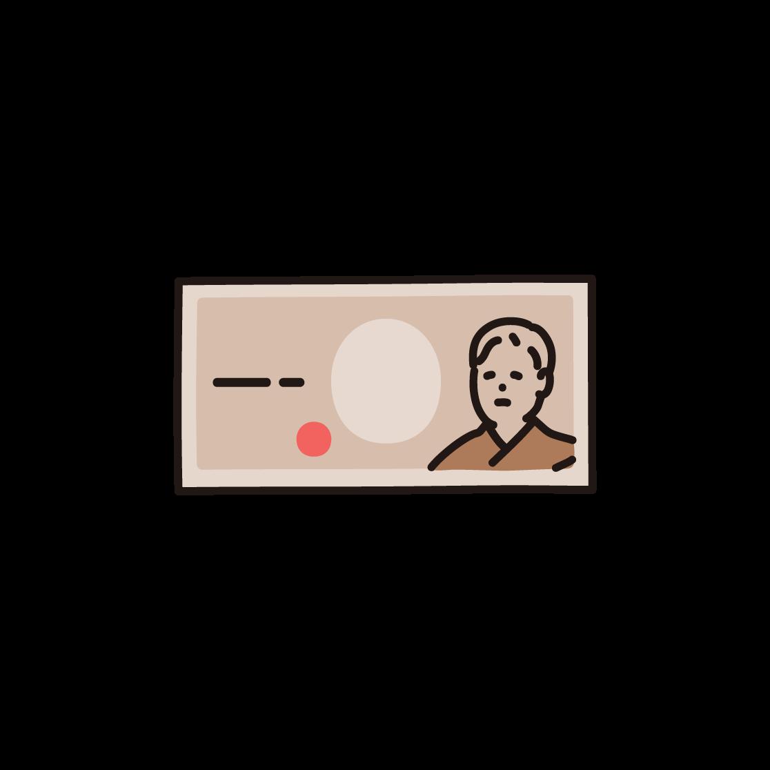 紙幣のイラスト