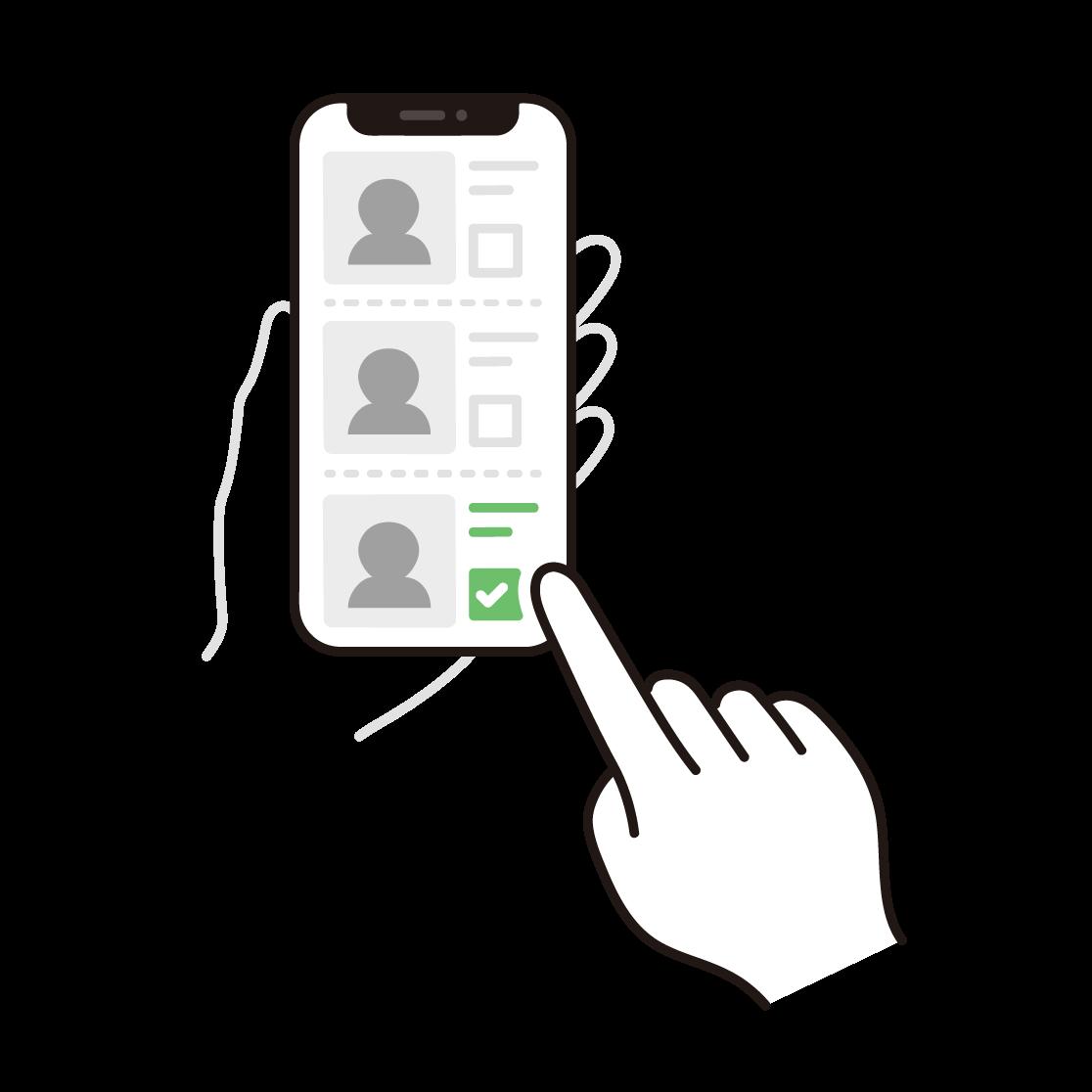 オンライン投票のイラスト
