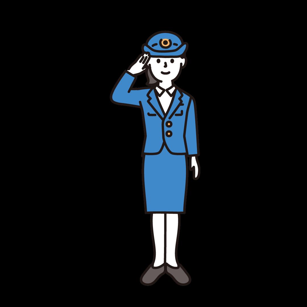 警察官(女性)のイラスト