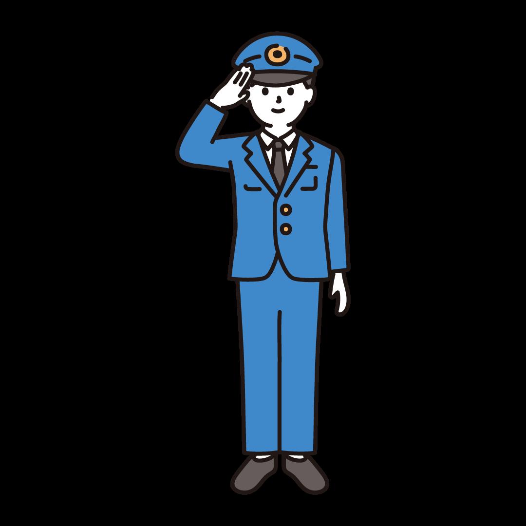 警察官(男性)のイラスト