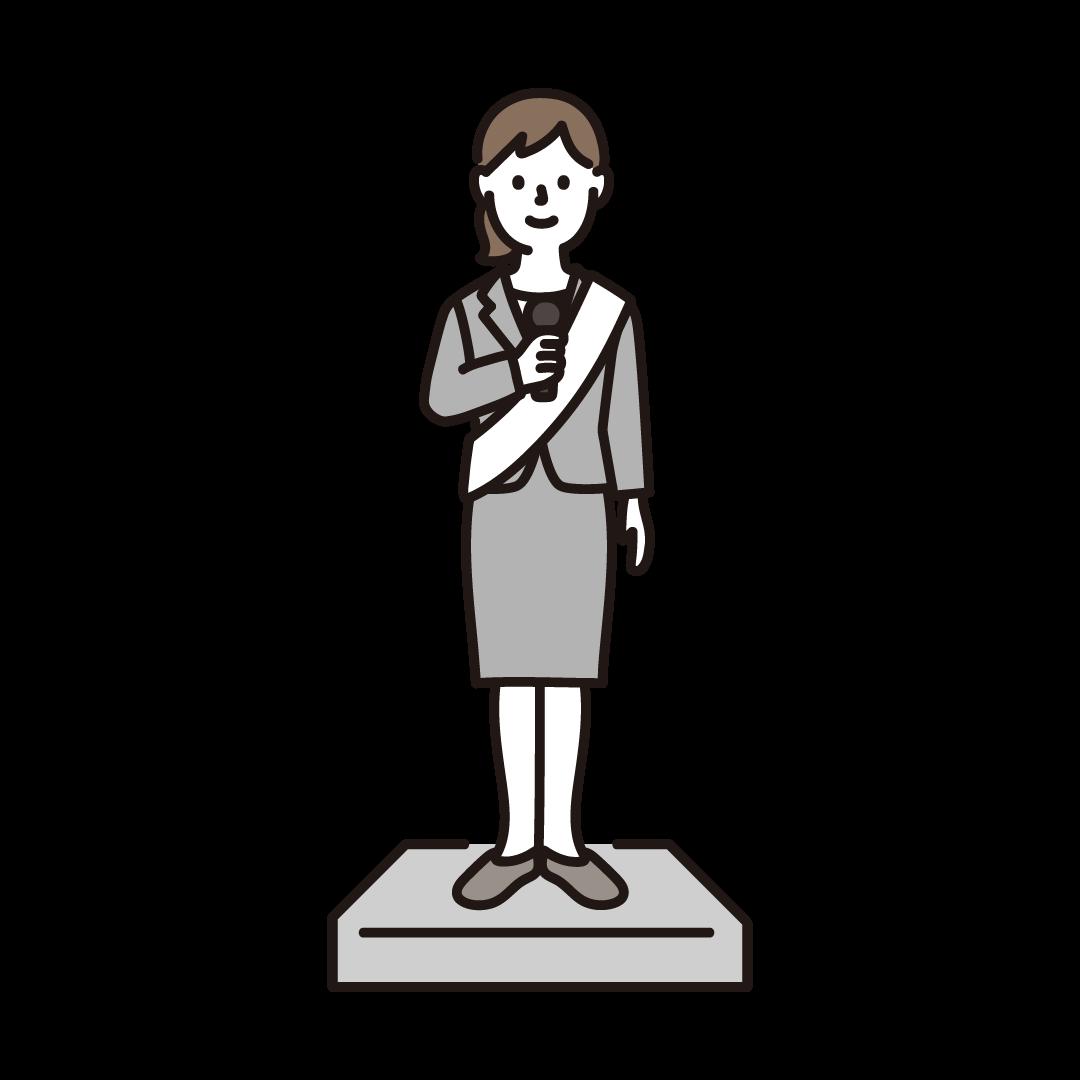選挙演説をする女性