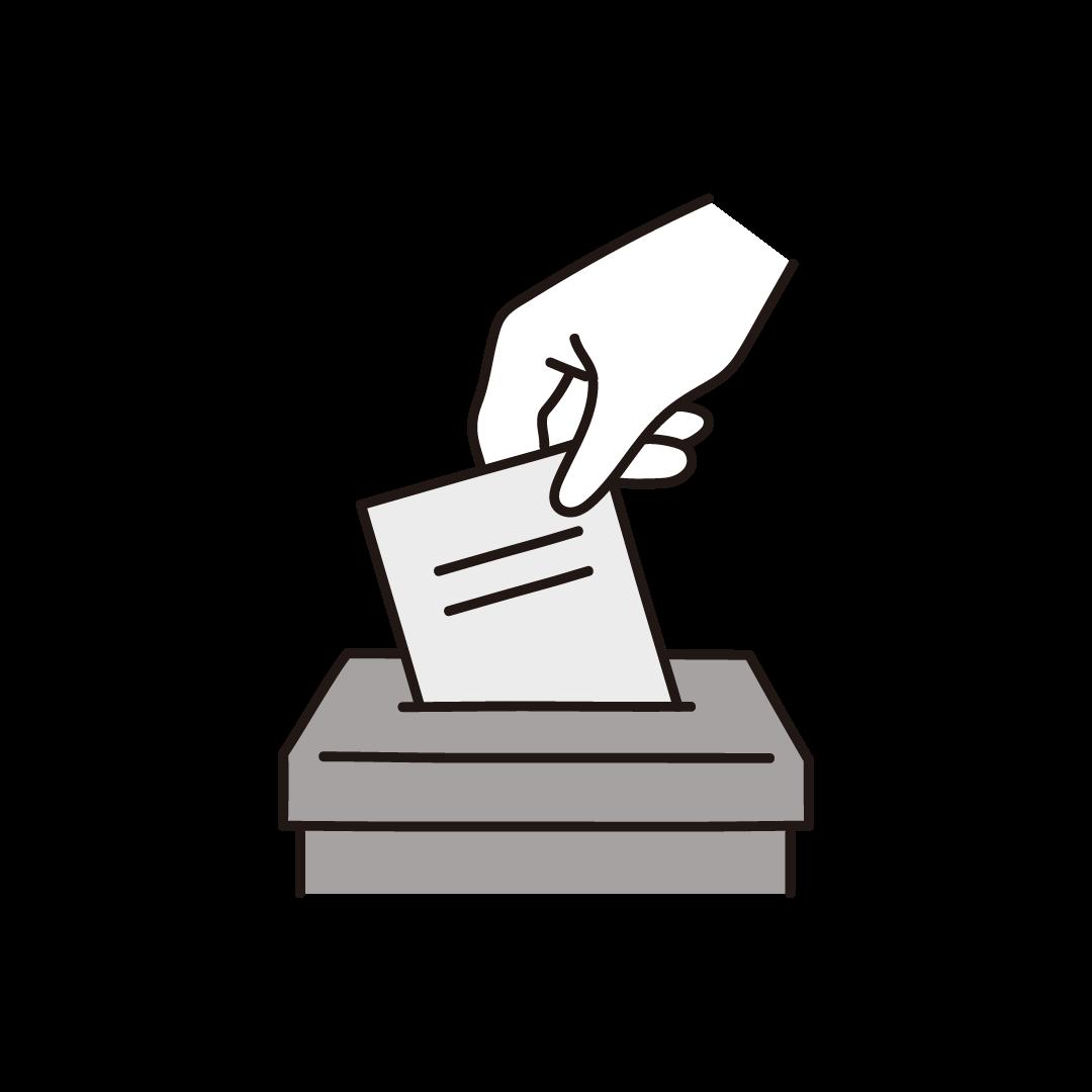 投票箱(選挙)のイラスト