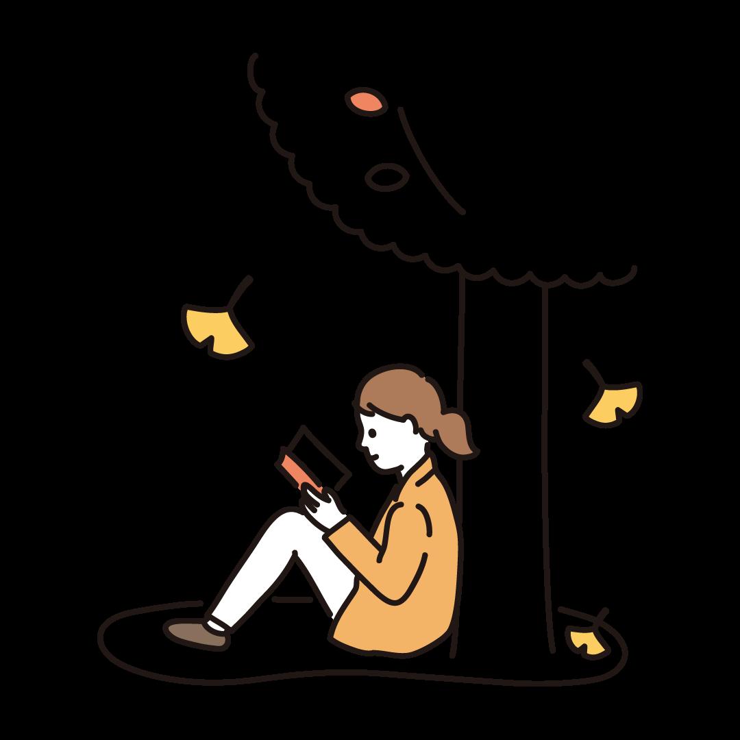 読書の秋のイラスト