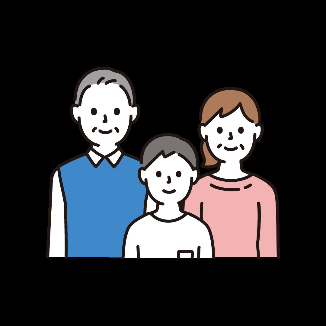 3人家族(上半身)