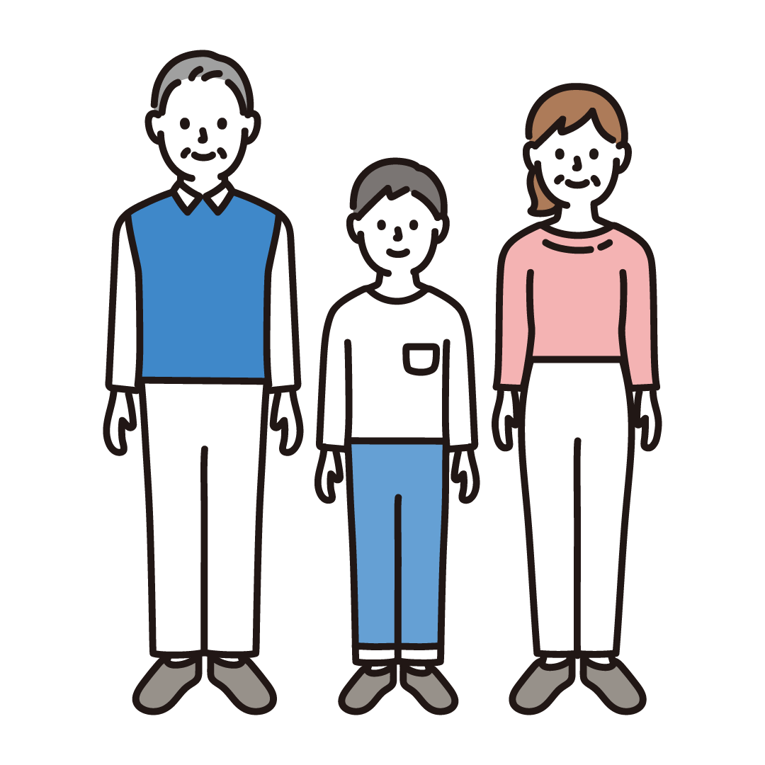 3人家族(全身)