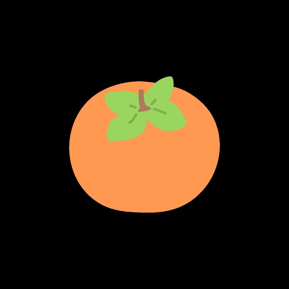 柿の塗りイラスト