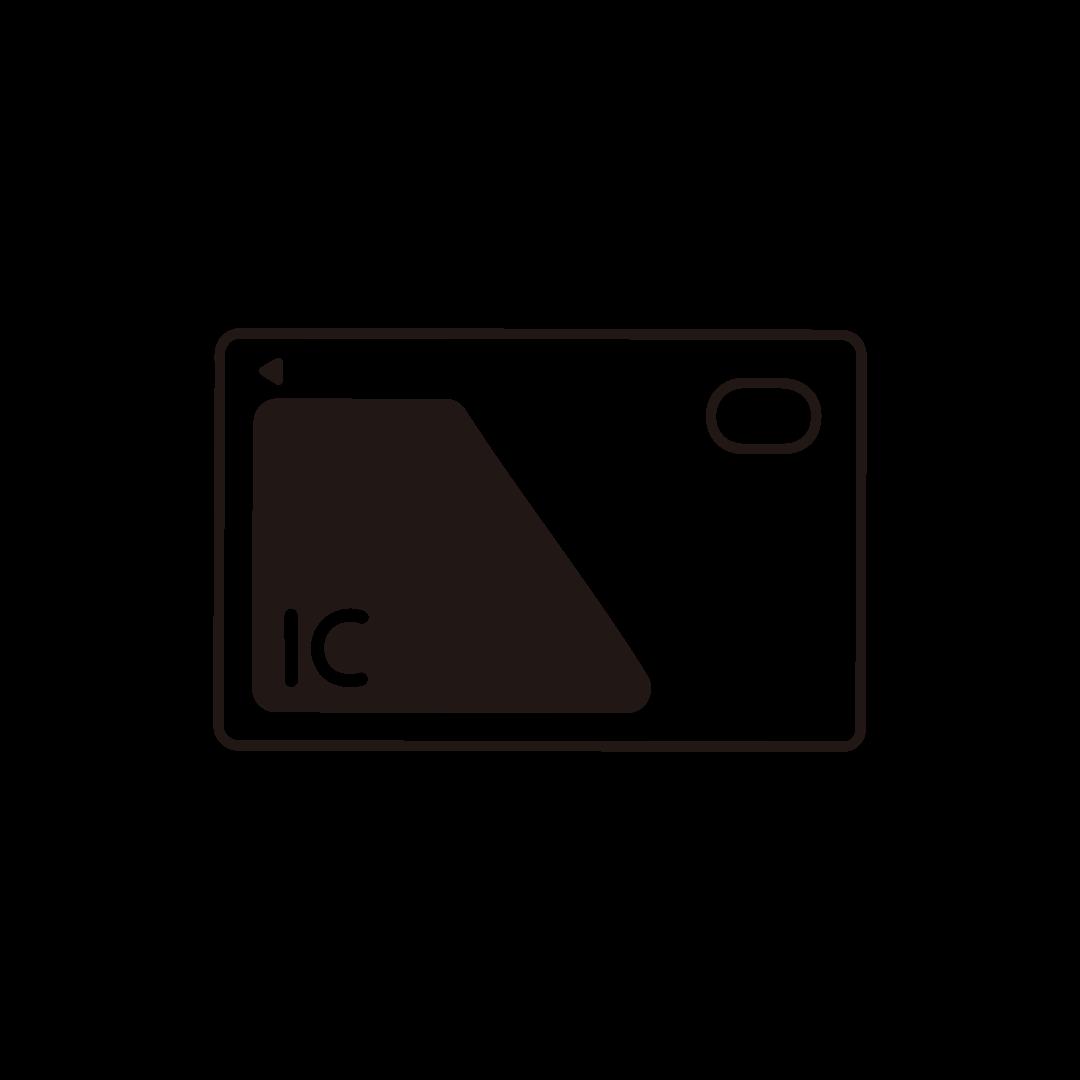 ICカードの線イラスト