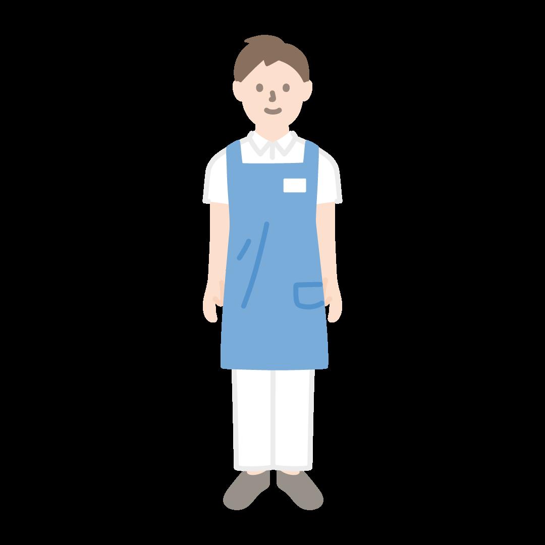 介護士(男性)の塗りイラスト