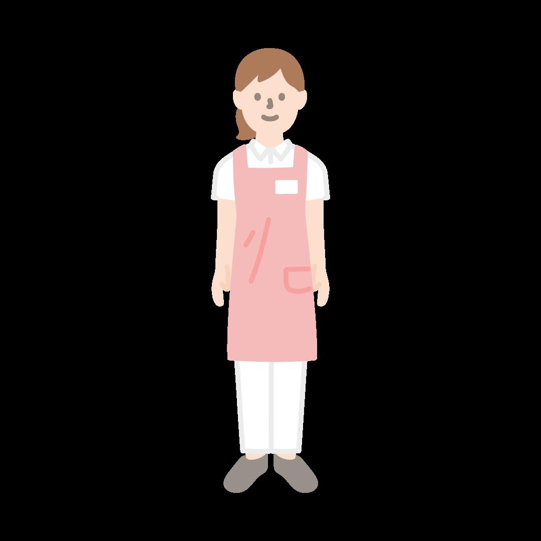 介護士(女性)の塗りイラスト