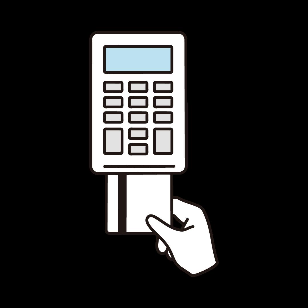 クレジットカード決済のイラスト