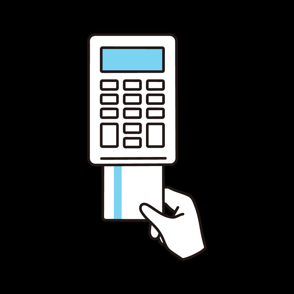 クレジットカード決済のイラスト(単色)