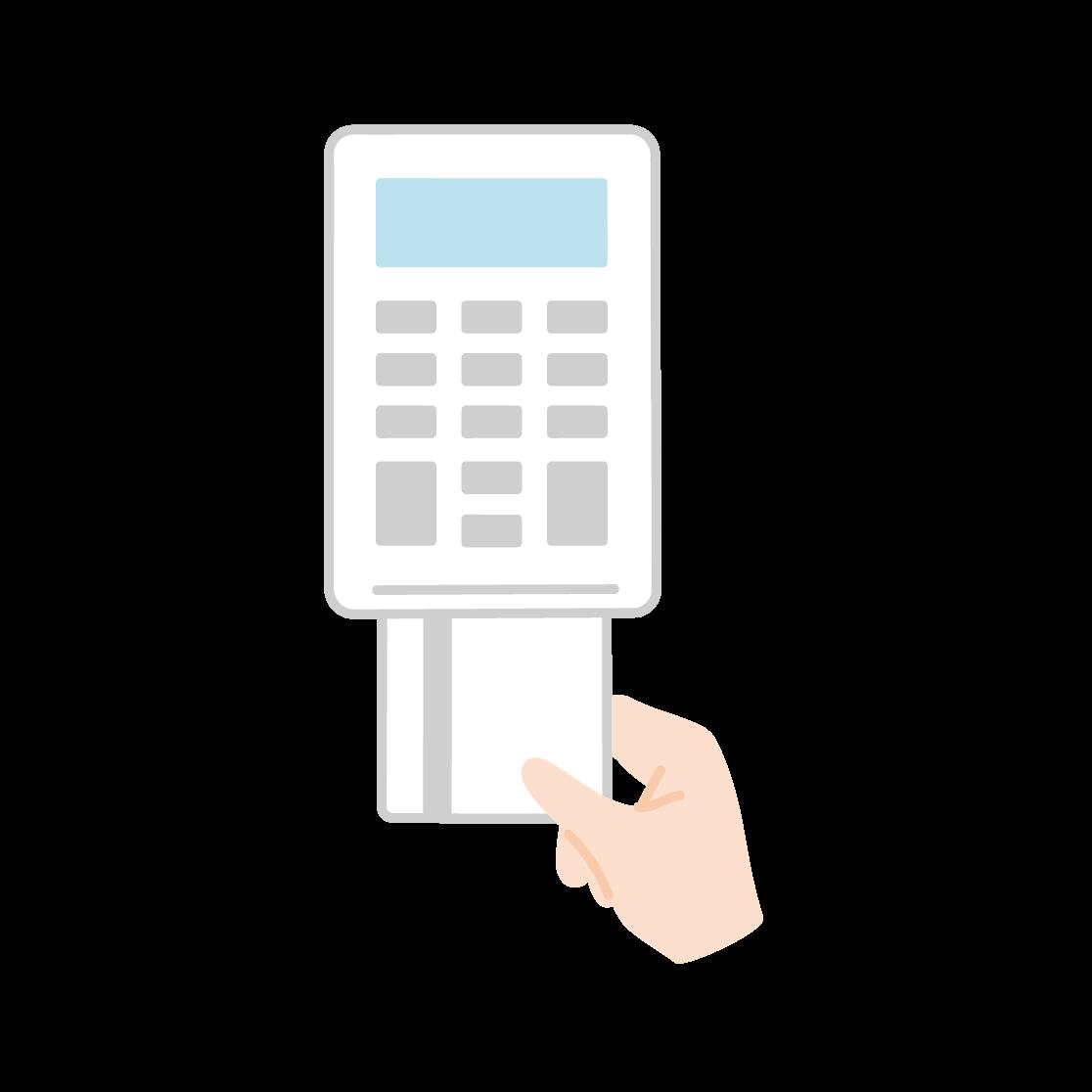 クレジットカード決済のイラスト(塗り)